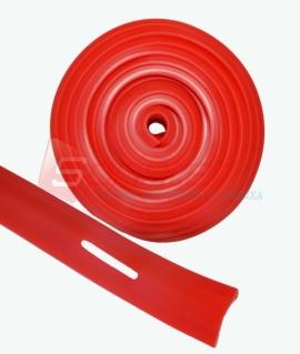 Эспандер  лента с прорезями 260*3,5*0,5 см. Красный. LLD 20