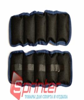 Утяжелители на липучке, (чёрный с синим) - 1,5 кг (вес и цена за пару). Украина