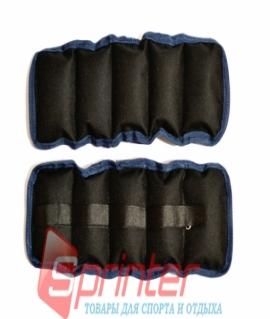 Утяжелители на липучке, (чёрный с синим) - 3 кг (вес и цена за пару). Украина
