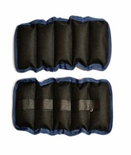 Утяжелители на липучке, (чёрный с синим) - 4 кг (вес и цена за пару). Украина