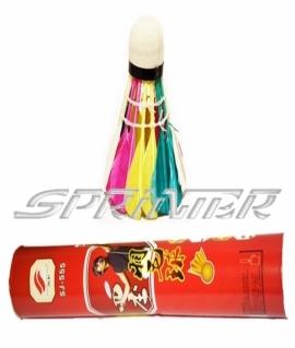 Набор цветных перьевых воланов - 12 шт.555