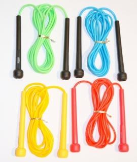 Скакалка пластиковая с резиновым шнуром. Длина: 2,8 м. 6308-4,8