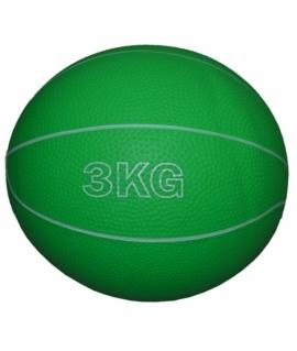 Мяч для атлетических упражнений (медбол) - 3 кг  зелёный.