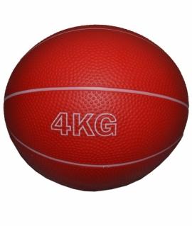 Мяч для атлетических упражнений (медбол) - 4 кг. красный.