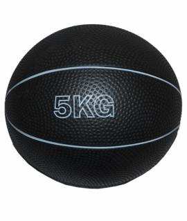 Мяч для атлетических упражнений (медбол) - 5 кг. чёрный.