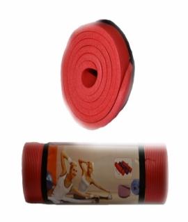 Коврик для йоги и фитнеса (183*61*1 см) красный. K-6010