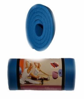 Коврик для йоги и фитнеса (183*61*1,5 см) голубой. K-6015