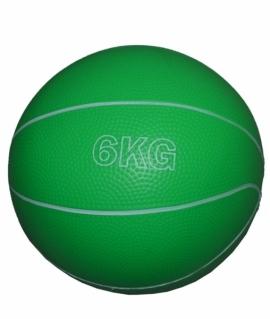 Мяч для атлетических упражнений (медбол) - 6 кг. зелёный.