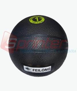 """Мяч для атлетических упражнений """"Feilong"""" (медбол) - 1 кг. чёрный."""