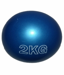Мяч для атлетических упражнений (медбол) - 2 кг из силикона синий.