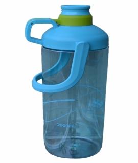 Бутылочка из пищевого пластика. Голубой/серый/зелёный. 2500 мл. 8863