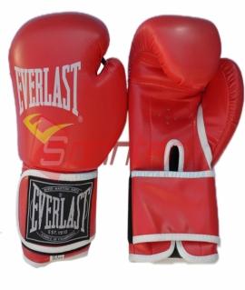 Перчатки боксёрские EVERLAST PU. Цвет:красный. Размер-вес:10 .QJ