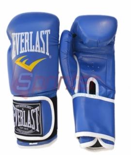 Перчатки боксёрские EVERLAST PU. Цвет:синий. Размер-вес:8 .QJ
