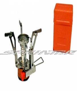 Горелка газовая складная с пьезоподжигом,оранжевая (удобная в переноске). S004
