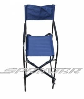 Кресло туристическое из стали, складное, синее. (2,9 кг) СНО-123