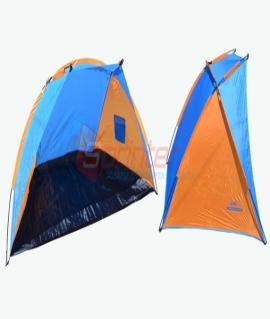 Палатка детская (112х205х115см) из полиэстера,синий с оранжевым. №3