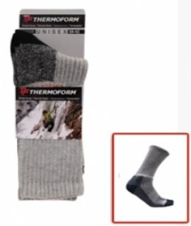 Носки для походов. Цвет: Серый с чёрным. Размеры: 35/38.  33