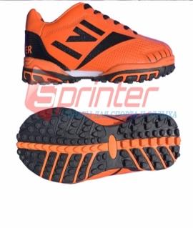 """Бутсы сороконожки """"Sprinter"""" из PVC и резины. Размер: 37. Оранжевый с черным. АХ2370"""