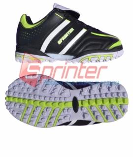 """Бутсы сороконожки """"Sprinter"""" из PVC и резины. Размер: 37. Чёрный с жёлтыми и белыми вставками. АХ3090"""