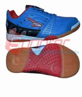 """Бутсы для зала """"Sprinter"""" из PVC и резины, синие с чёрными и красными вставками. Размер: 41. AX2392"""