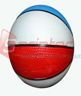 Мяч баскетбольный детский из резины. Диаметр: 14 см. Продажа по 10шт. 14-БЦ