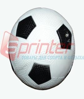 Мяч футбольный детский из резины. Диаметр: 12 см. Продажа по 10шт. Цена за 1шт. Белый с чёрным. 14-Б