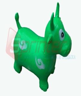 """Надувная игрушка-попрыгунчик """"Корова"""" из ПВХ. Высота 50 см. Вес: 1,3 кг. Зелёный. YJ-DW3"""