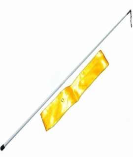 Лента гимнастическая жёлтая - 6 м