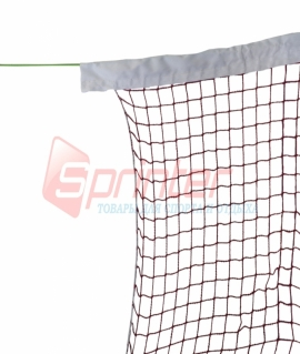 Сетка для бадминтона с тросом ( 1,2 мм), верхняя часть обшита тканью. SD-8000