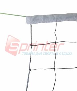 Сетка для волейбола с тросом ( 1,7 мм), верхняя часть обшита белой тканью с шириной 4 см. SD-801