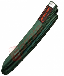 Пояс для карате из хлопка - 270 см. Зелёный