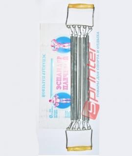 Эспандер плечевой 5 пружин по 48 см с деревянными ручками. SP712