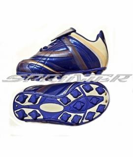 Бутсы футбольные с круглыми шипами из  PVC и резины. Синий. AX2154