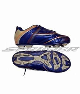 Бутсы футбольные с овальными шипами из  PVC и резины Синий. AX2154
