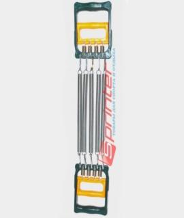 Эспандер плечевой 2 в 1 на 5 пружин по 26 см с пластиковыми ручками. ST006 -4003