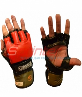 """Перчатки для смешанных боевых искусств из кожи Sprinter """"EverGel""""  - XL 93-104"""