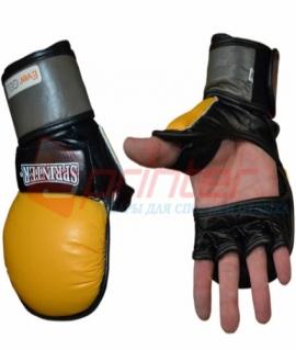 """Перчатки для смешанных боевых искусств из кожи Sprinter """"EverGel""""  - L 46-57"""
