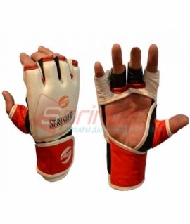 Перчатки для рукопашного боя из кожи - L. Белые