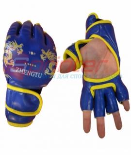 Перчатки для рукопашного боя Gold из PU - L. Синие