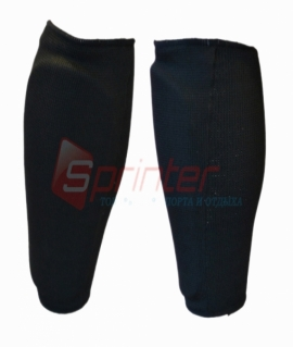 Защита для ног (голень) из хлопка с эластиком и поролон -  L. Чёрная J780