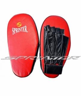 Лапа боксерская  SPRINTER кожа на липучке красные