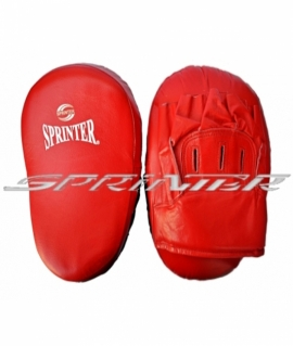 Лапа боксерская SPRINTER гнутая,натуральная кожа,