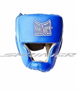 """Шлем закрытый боксерский  """"SPRINTER"""" из натуральной кожи и замша.Цвета: Красный,синий. 606-608"""